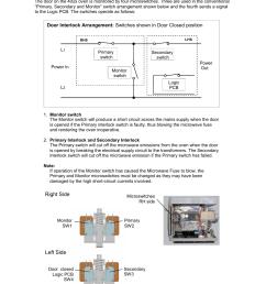 procedure for door interlock adjustment and test 1 merrychef 402s user manual page 25 51 [ 954 x 1351 Pixel ]