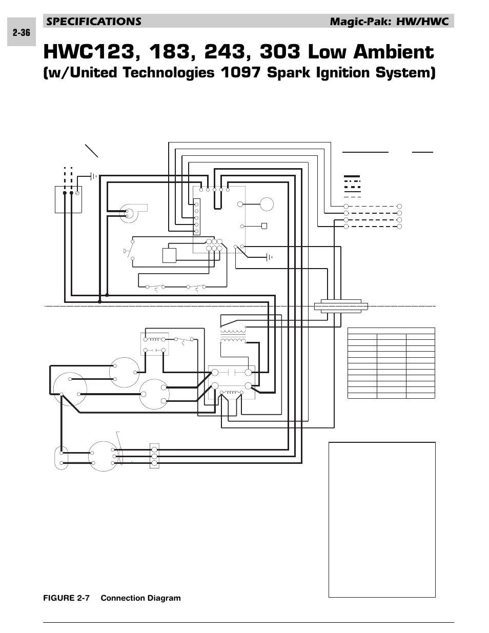 W/united technologies 1097 spark ignition system