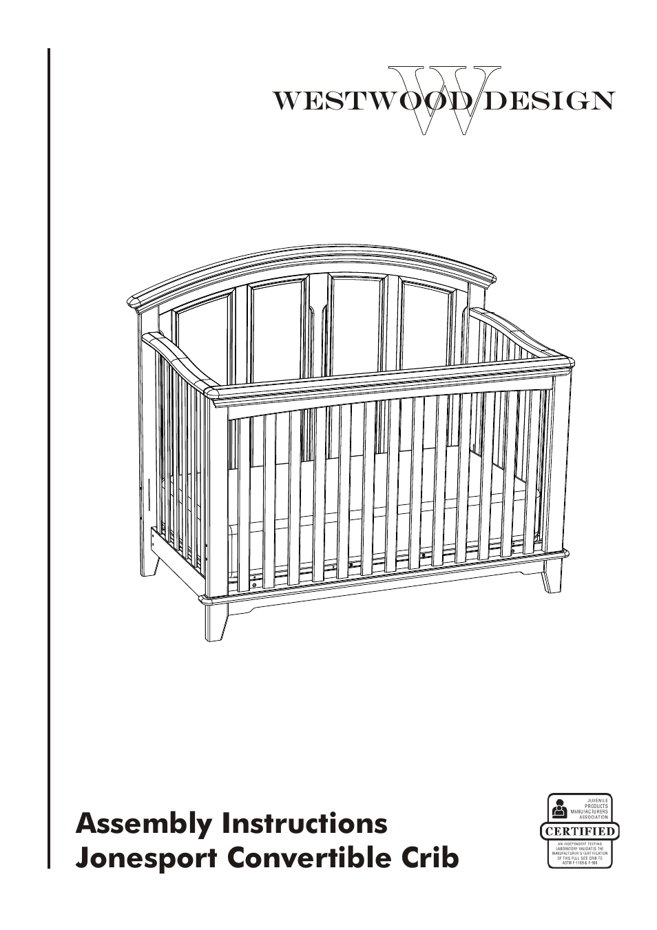 Westwood Design Jonesport Convertible Crib User Manual