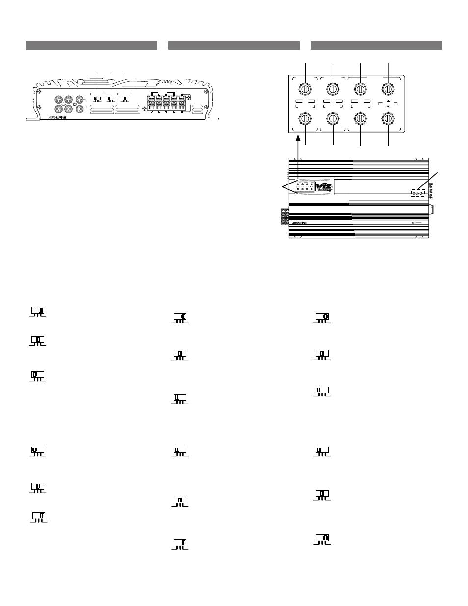 Switch settings, Reglages de commutateur, Ajustes del