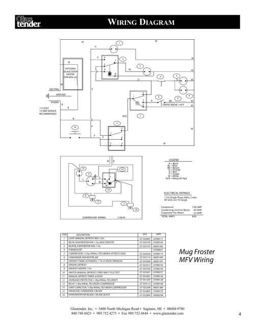 small resolution of mug froster mfv wiring iring iagram glastender mfv24 reach in mug chillers user manual page 7 16