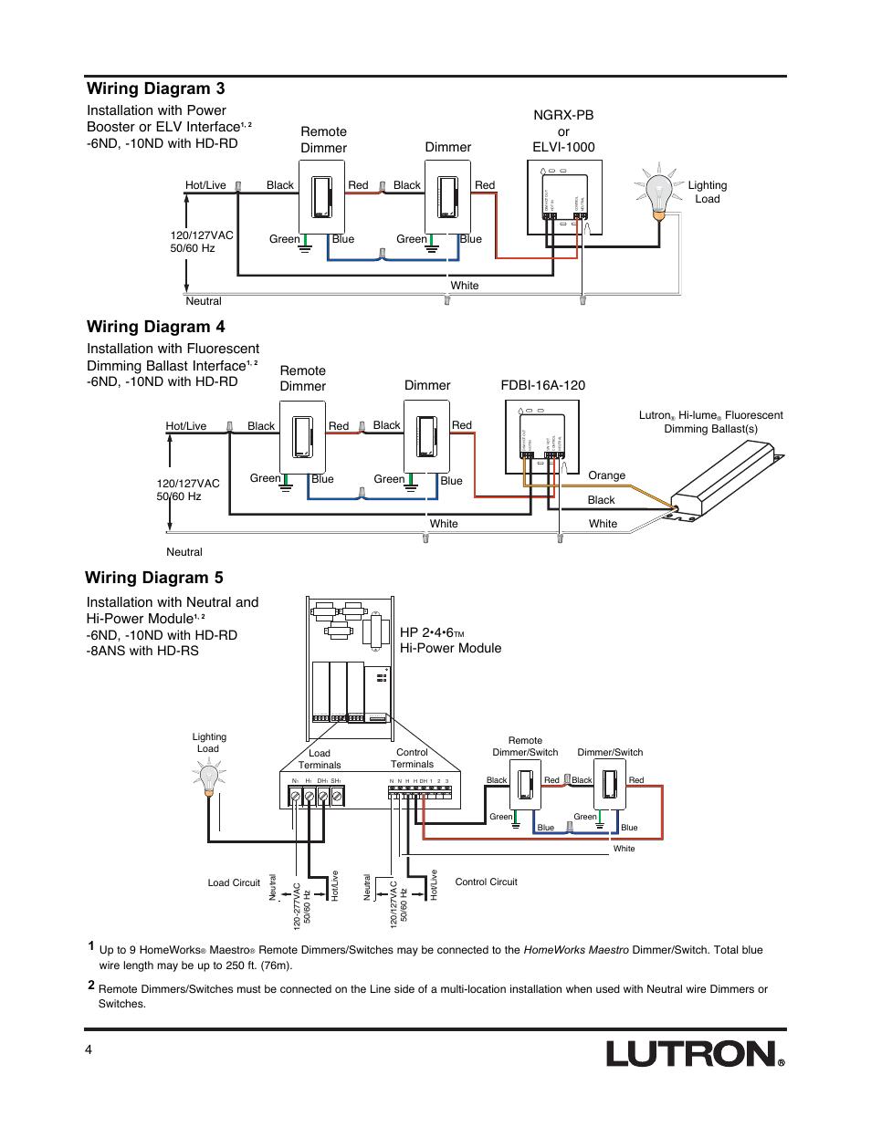 medium resolution of wiring diagram 3 wiring diagram 4 wiring diagram 5 lutron hd rswiring diagram 3