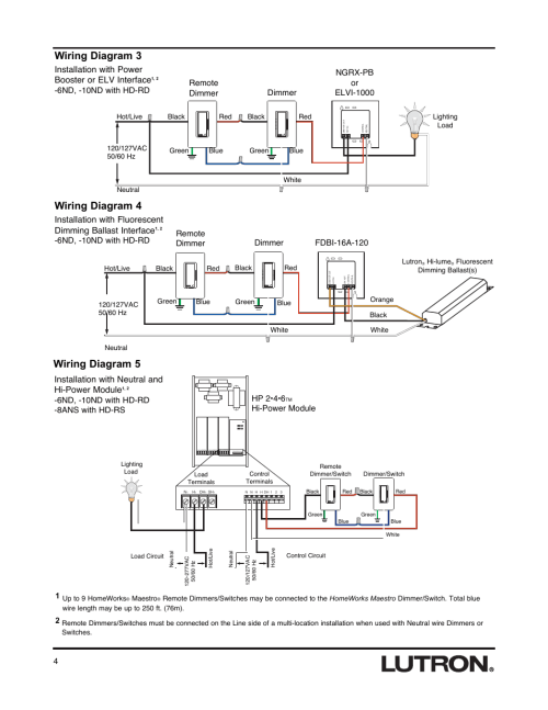 small resolution of wiring diagram 3 wiring diagram 4 wiring diagram 5 lutron hd rswiring diagram 3