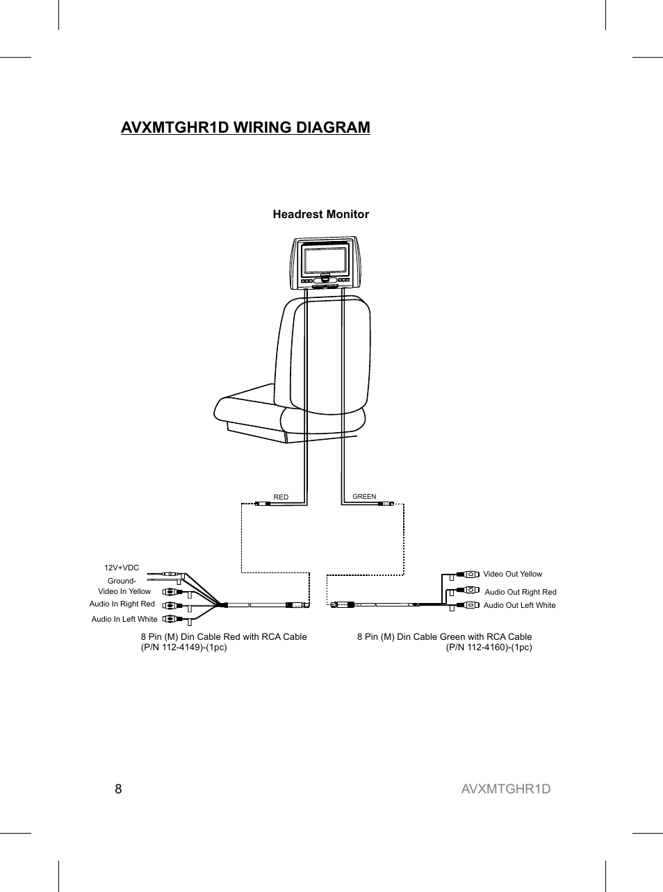 hight resolution of avxmtghr1d wiring diagram avxmtghr1d 8 audiovox avxmtghr1d user manual page 8 28