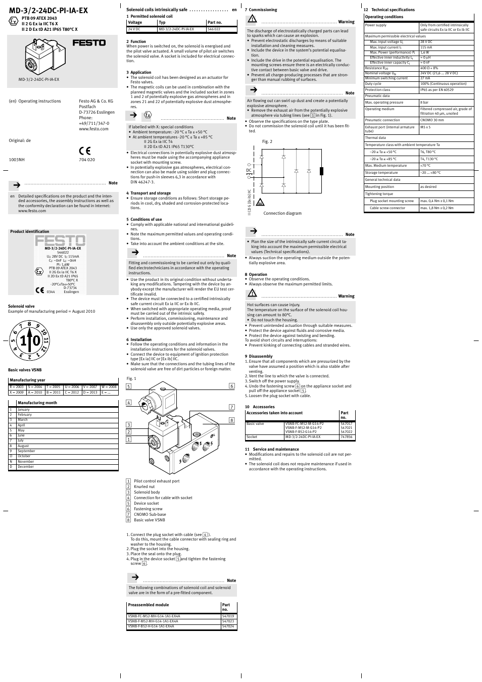 medium resolution of md 3 2 24dc pi ia ex festo namur user manual page 2 6