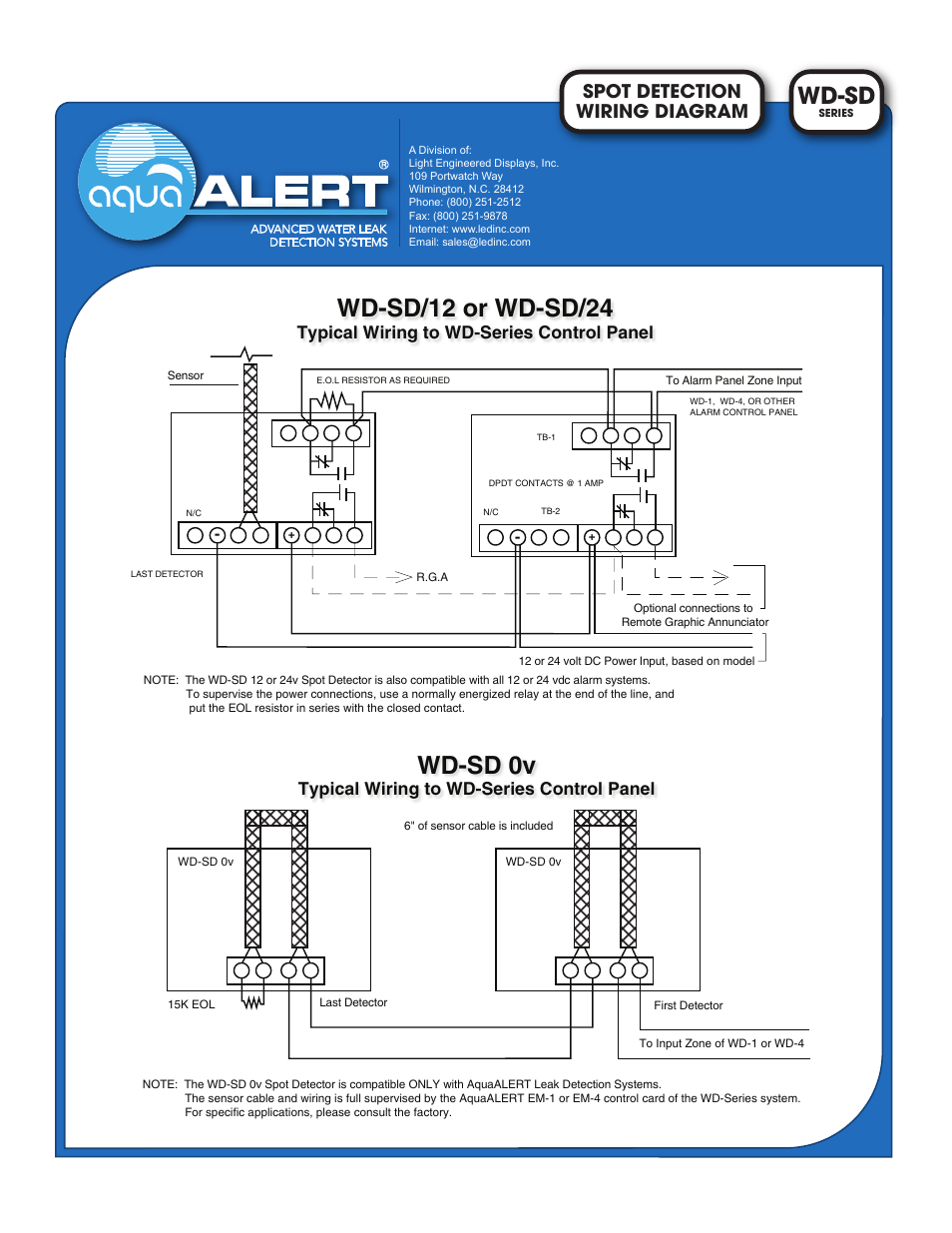 hight resolution of light engineered displays wd sd series wiring diagram user manual 1 page
