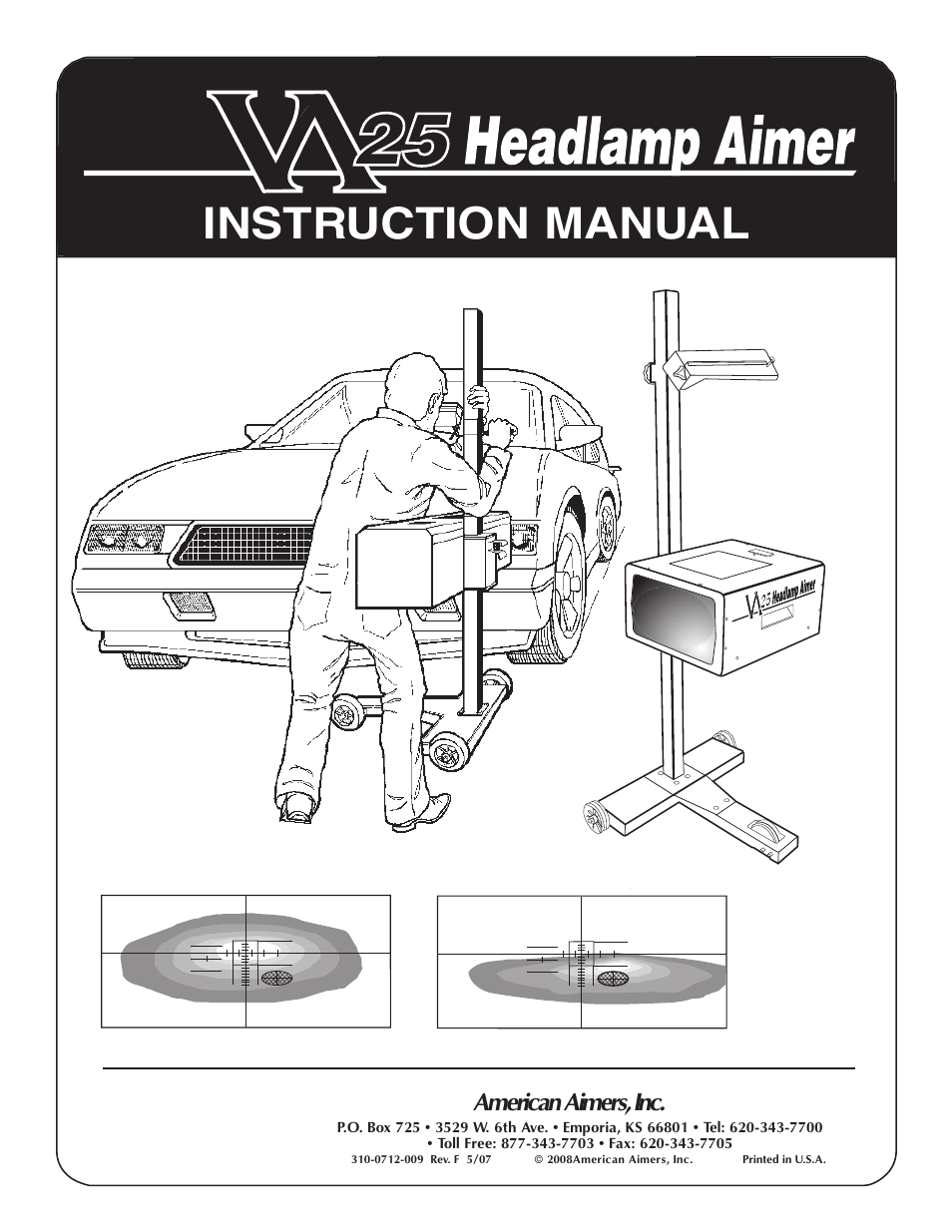 American Aimers VA 25 Optical Headlight Aimer User Manual