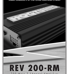 hogtunes rev 200 rm 2 channel class d amplifier 2x100 watts 2014 model year user manual 8 pages [ 954 x 1475 Pixel ]