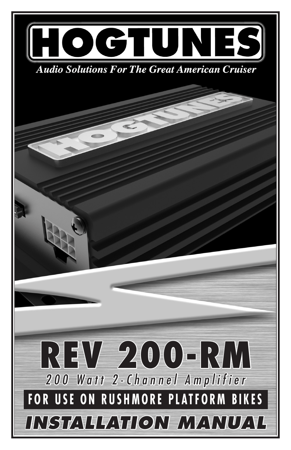 medium resolution of hogtunes rev 200 rm 2 channel class d amplifier 2x100 watts 2014 model year user manual 8 pages