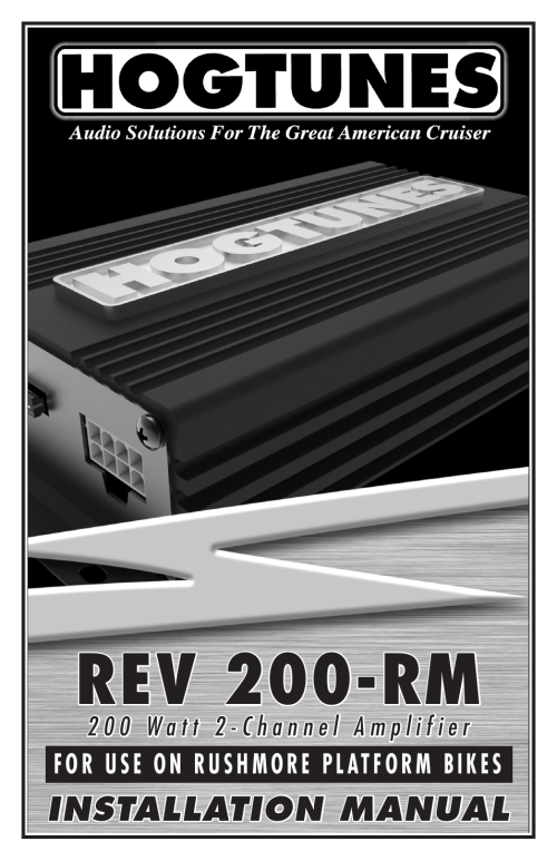 small resolution of hogtunes rev 200 rm 2 channel class d amplifier 2x100 watts 2014 model year user manual 8 pages