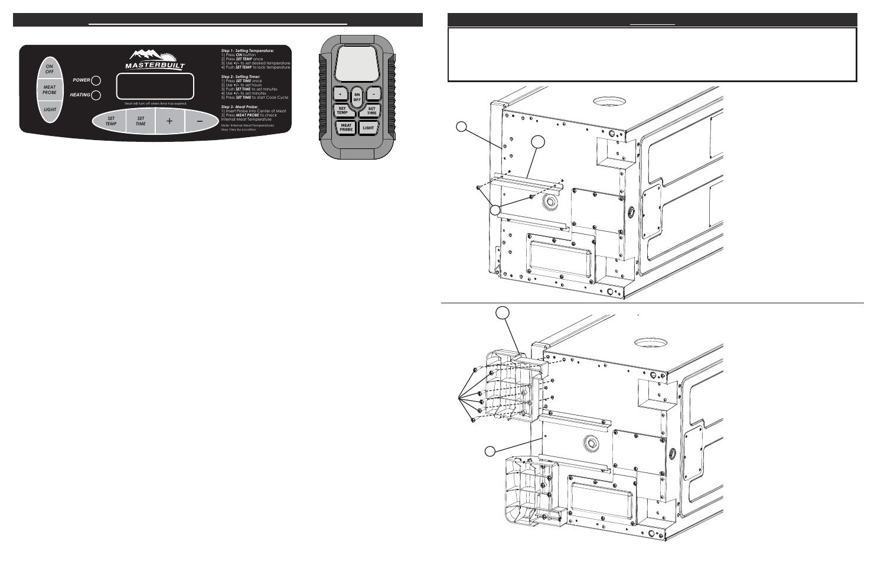 How to use control panel & remote control, Armado