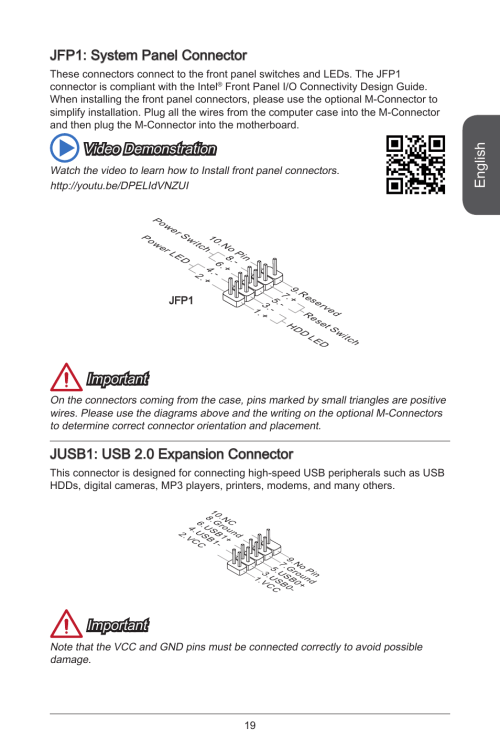 small resolution of english jfp system panel connector video demonstration msi residential electrical wiring diagrams english