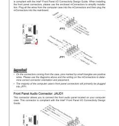 front panel connectors jfp1 jfp2 front panel audio connector front panel audio wiring diagram [ 954 x 1432 Pixel ]