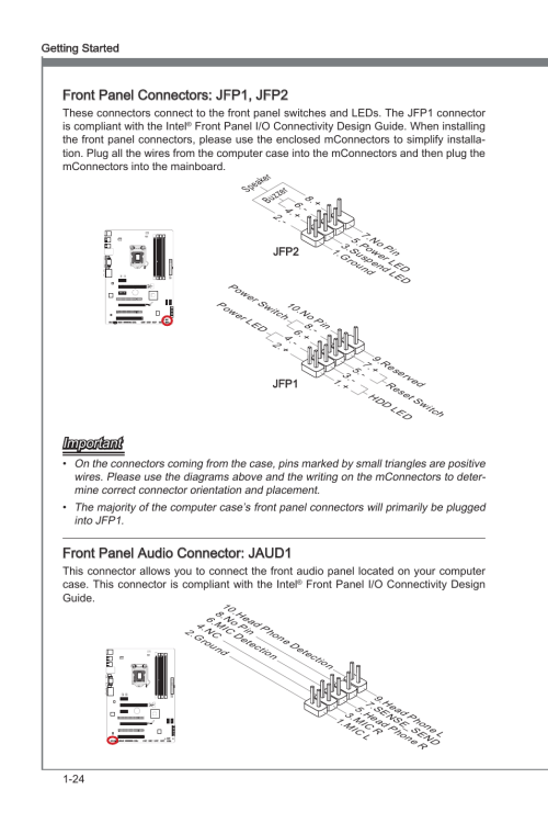 small resolution of front panel connectors jfp1 jfp2 front panel audio connector front panel audio wiring diagram