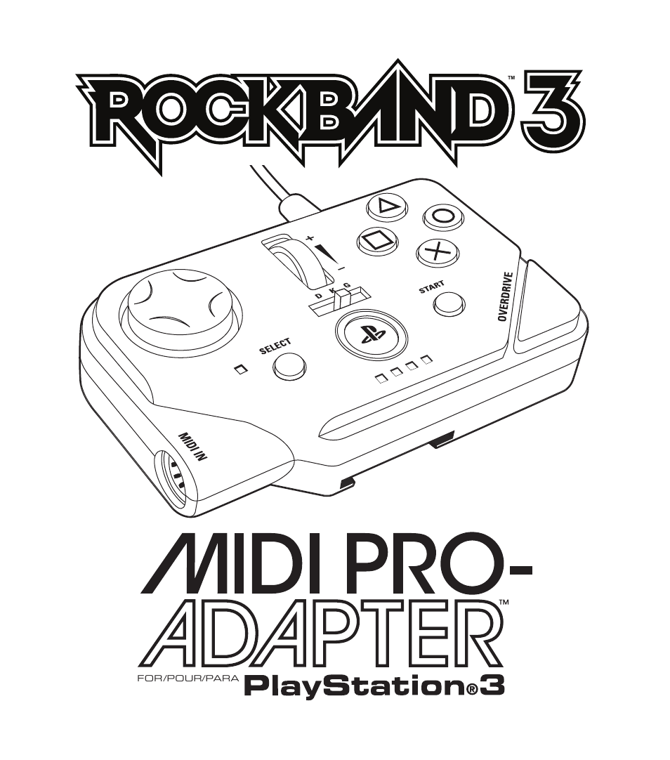 Rock Band MIDI PRO-Adapter Rock Band 3 for PlayStation-3