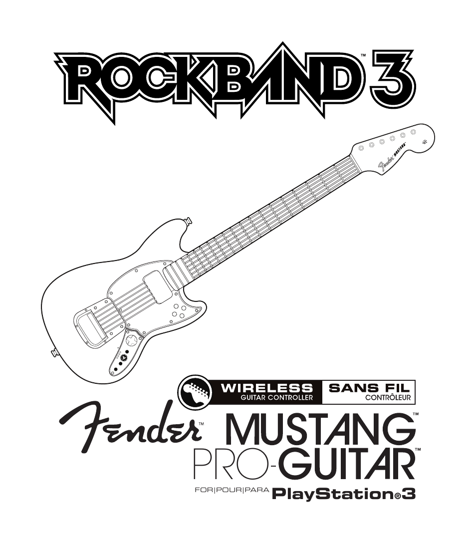 Rock Band Wireless Fender Mustang PRO-Guitar Controller
