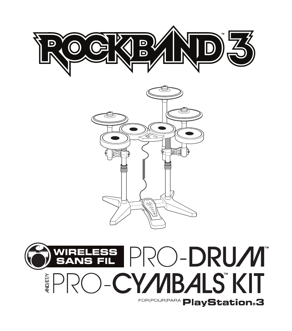 Rock Band Wireless PRO-Drum and PRO-Cymbals Kit Rock Band