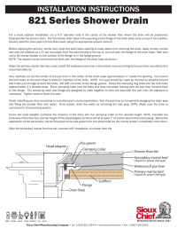 Sioux Chief Shower Drain Installation - Shower Designs