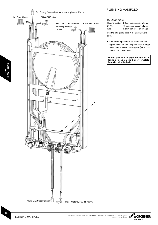worcester bosch 24i system boiler wiring diagram 2002 mitsubishi lancer oz rally radio plumbing manifold greenstar junior user manual page 16 62