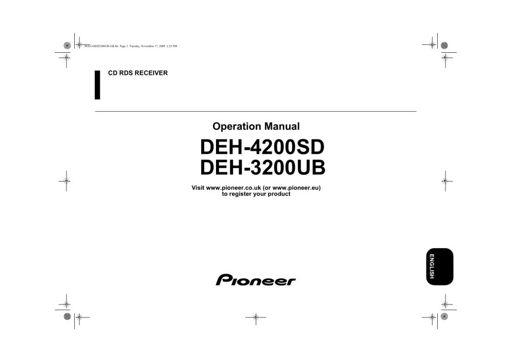 medium resolution of pioneer deh 3200ub user manual 28 pages also for deh 4200sd rh manualsdir com pioneer deh 3200 wiring diagram