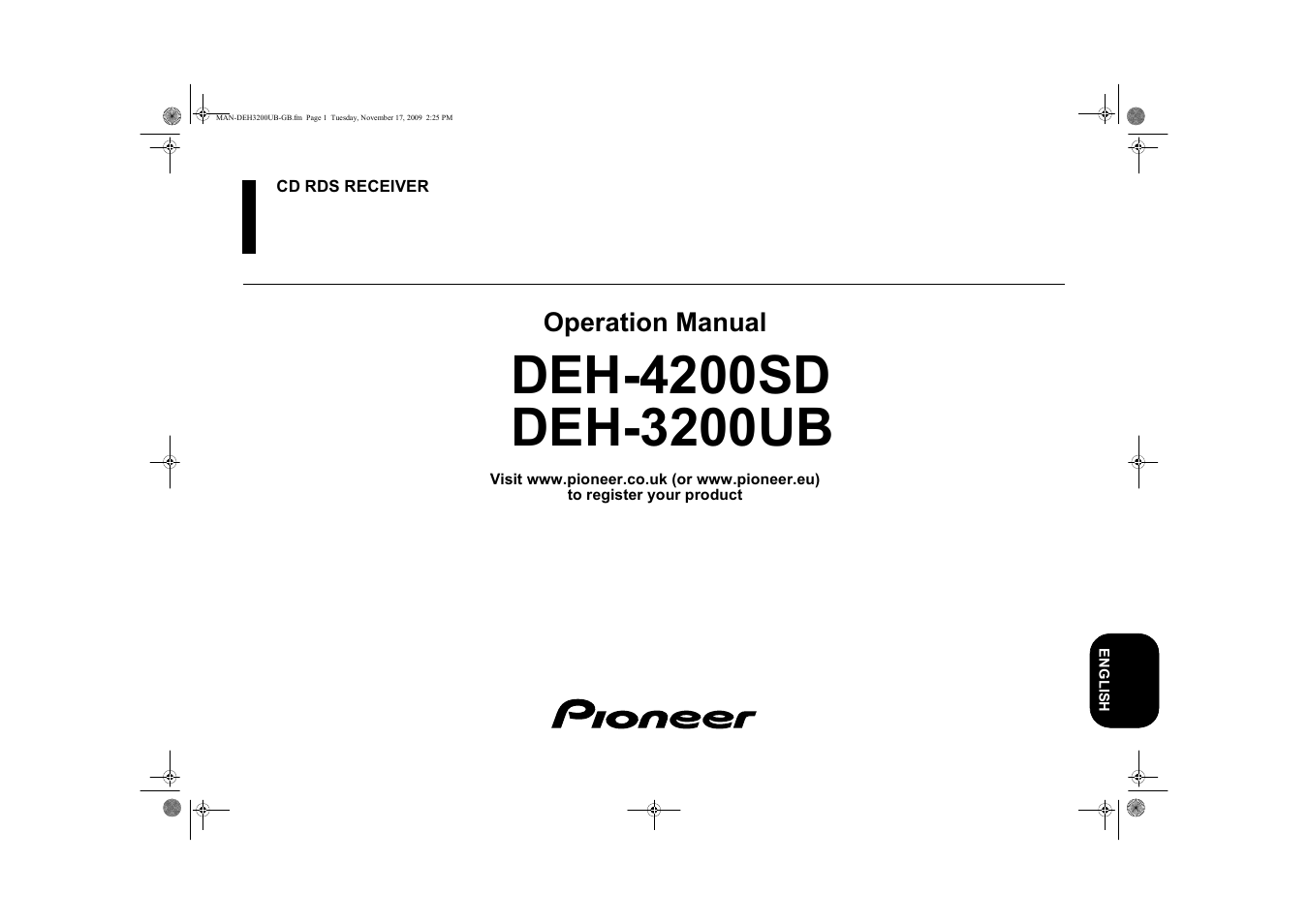 hight resolution of pioneer deh 3200ub user manual 28 pages also for deh 4200sd rh manualsdir com pioneer deh 3200 wiring diagram