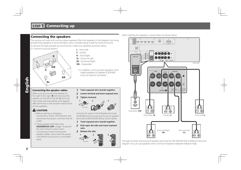 hight resolution of av receiver quick start guide english pioneer vsx 528 s user pioneer surround sound wiring diagram
