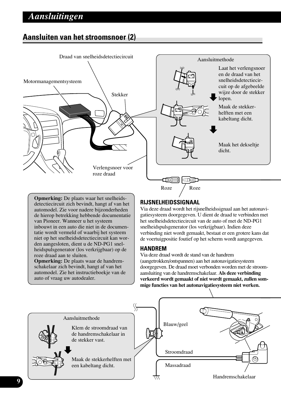 Aansluiten van het stroomsnoer (2), Aansluitingen