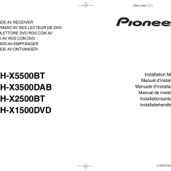 Pioneer Avh X1500dvd Wiring Diagram Three Way Switched Lighting X5500bt User Manual 52 Pages Also For