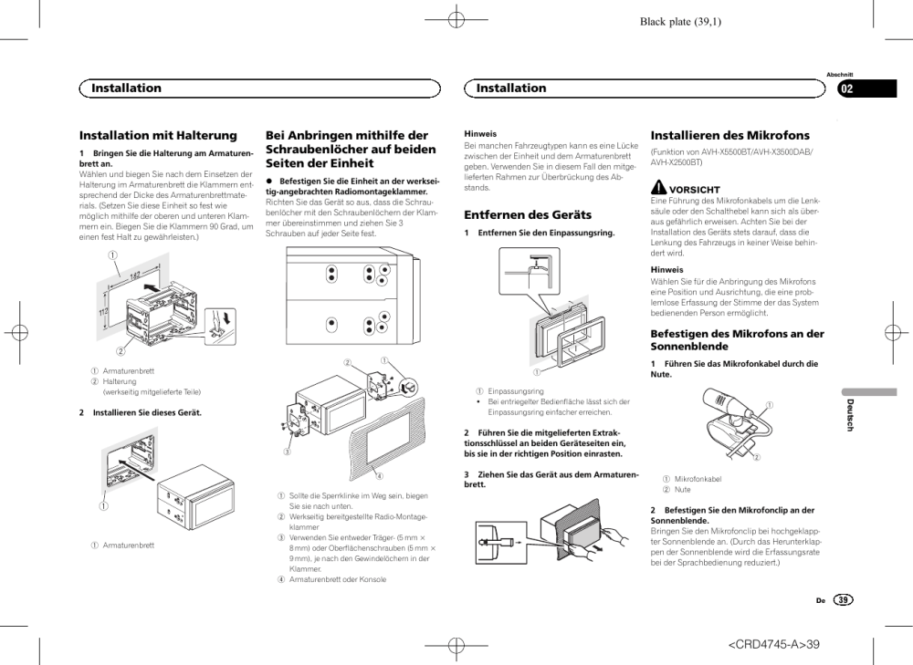medium resolution of pioneer avh x5500bt user manual page 39 52
