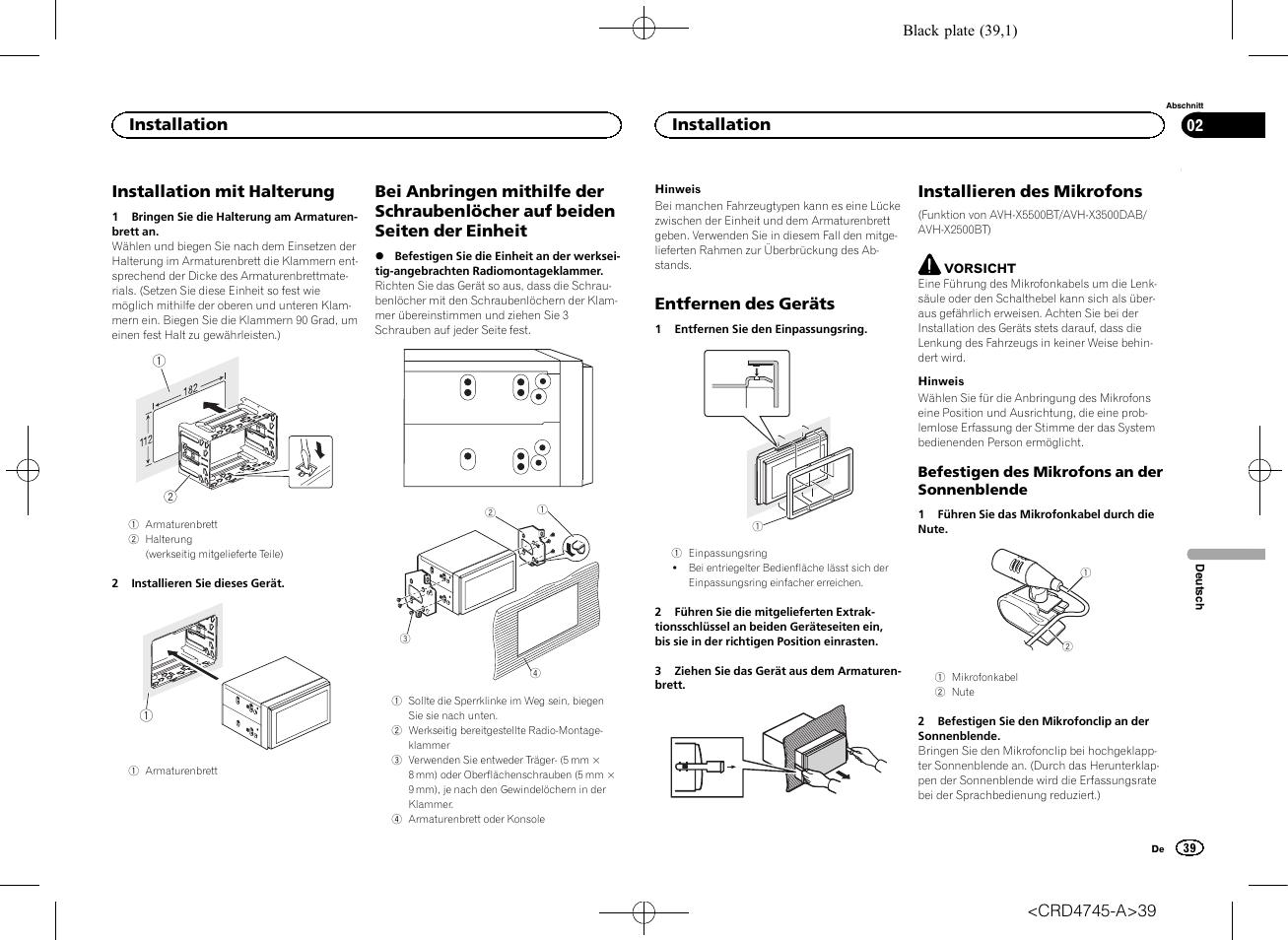 hight resolution of pioneer avh x5500bt user manual page 39 52
