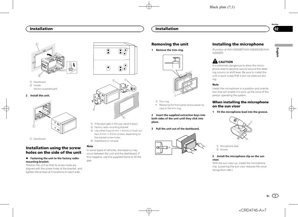 medium resolution of pioneer avh x5500bt user manual page 7 52