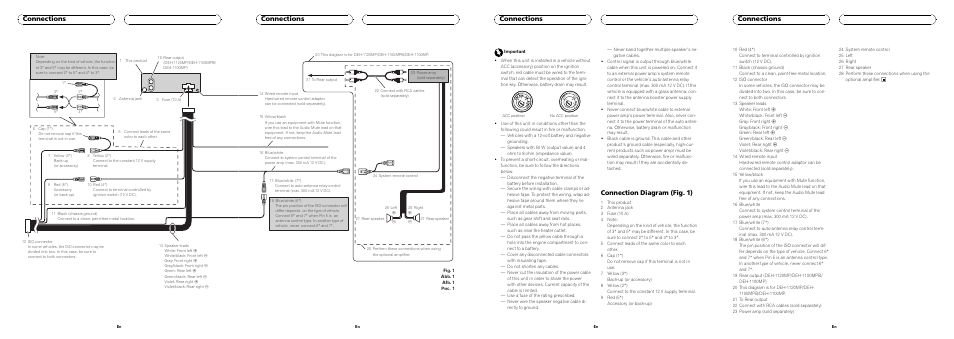 pioneer deh 112e page5?resize\\\=665%2C236 clarion vrx485vd wiring diagram clarion stereo wiring, sony clarion max385vd wiring harness at edmiracle.co