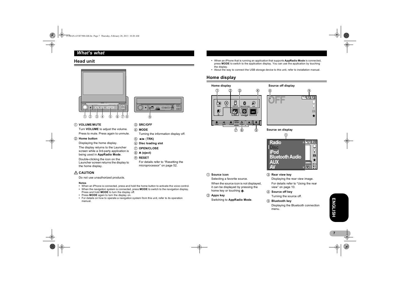Пионер 7500 инструкция