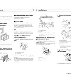 rimozione dell unit installazione del microfono installazione pioneer avh x1500dvd user [ 1307 x 954 Pixel ]
