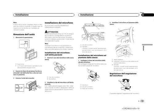 small resolution of rimozione dell unit installazione del microfono installazione pioneer avh x1500dvd user