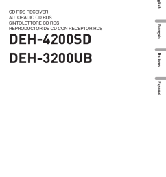 pioneer deh 3200ub user manual 116 pages also for deh 4200sdpioneer deh 3200 wiring diagram  [ 954 x 1354 Pixel ]