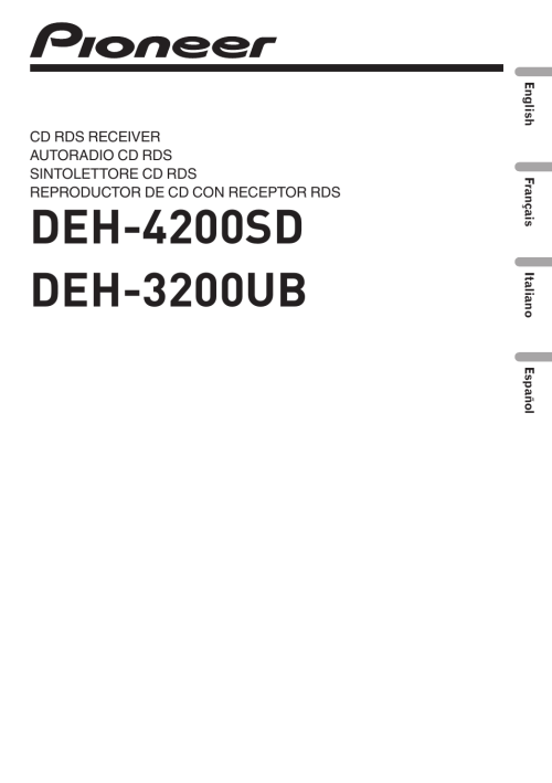 small resolution of pioneer deh 3200ub user manual 116 pages also for deh 4200sdpioneer deh 3200 wiring diagram