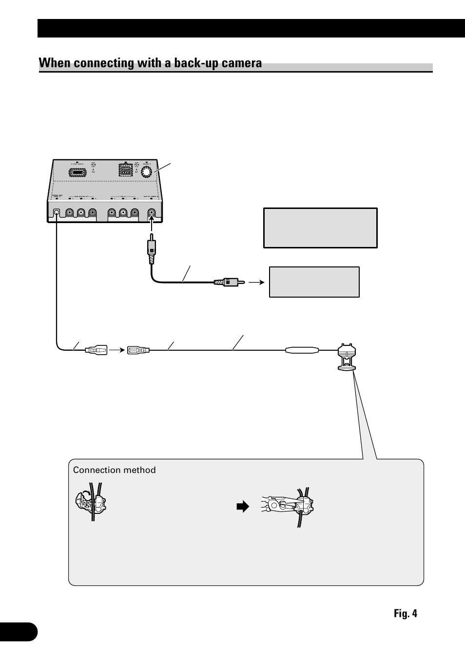 medium resolution of connecting the units when connecting with a back up camera pioneer avh