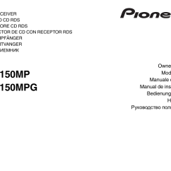 Pioneer Deh 1000 Wiring Diagram 2 Shurflo 12v Water Pump 150mpg User Manual 96 Pages Also For