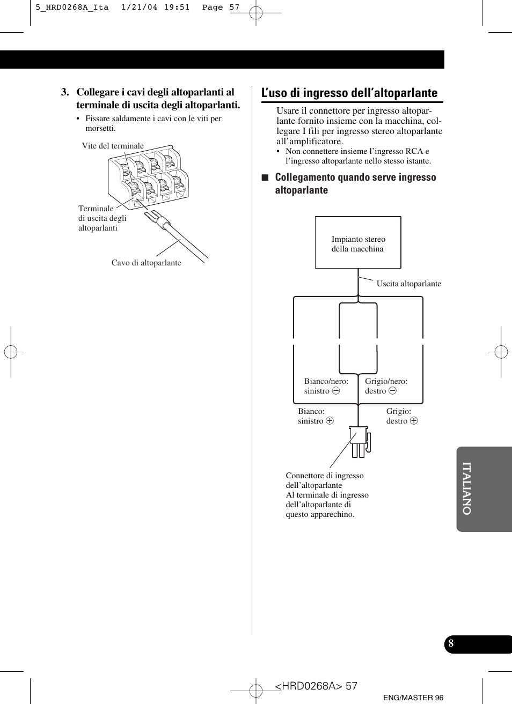 hight resolution of l uso di ingresso dell altoparlante pioneer gm 4000f user manual pioneer gm 4000f wiring diagram