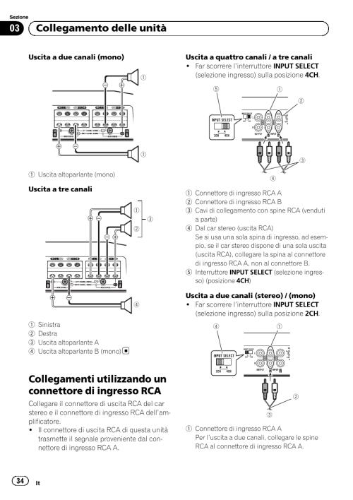 small resolution of 03 collegamento delle unit pioneer gm d8604 user manual page 34 96