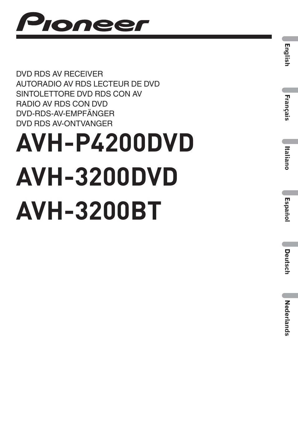 pioneer radio manual square d 30 50 pressure switch wiring diagram avh p4200dvd user 100 pages also for 3200bt 3200dvd
