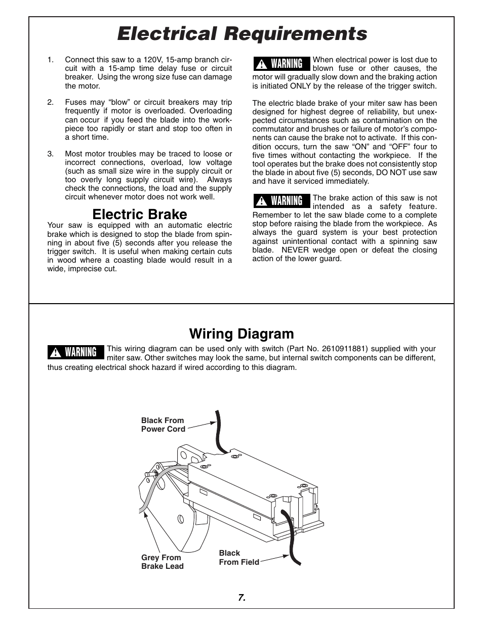 medium resolution of electrical requirements electric brake wiring diagram bosch 3915 user manual page 7 104