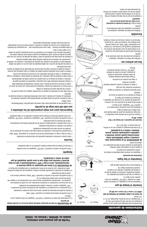 Instrucciones de operación, Conectar el tanque de gas