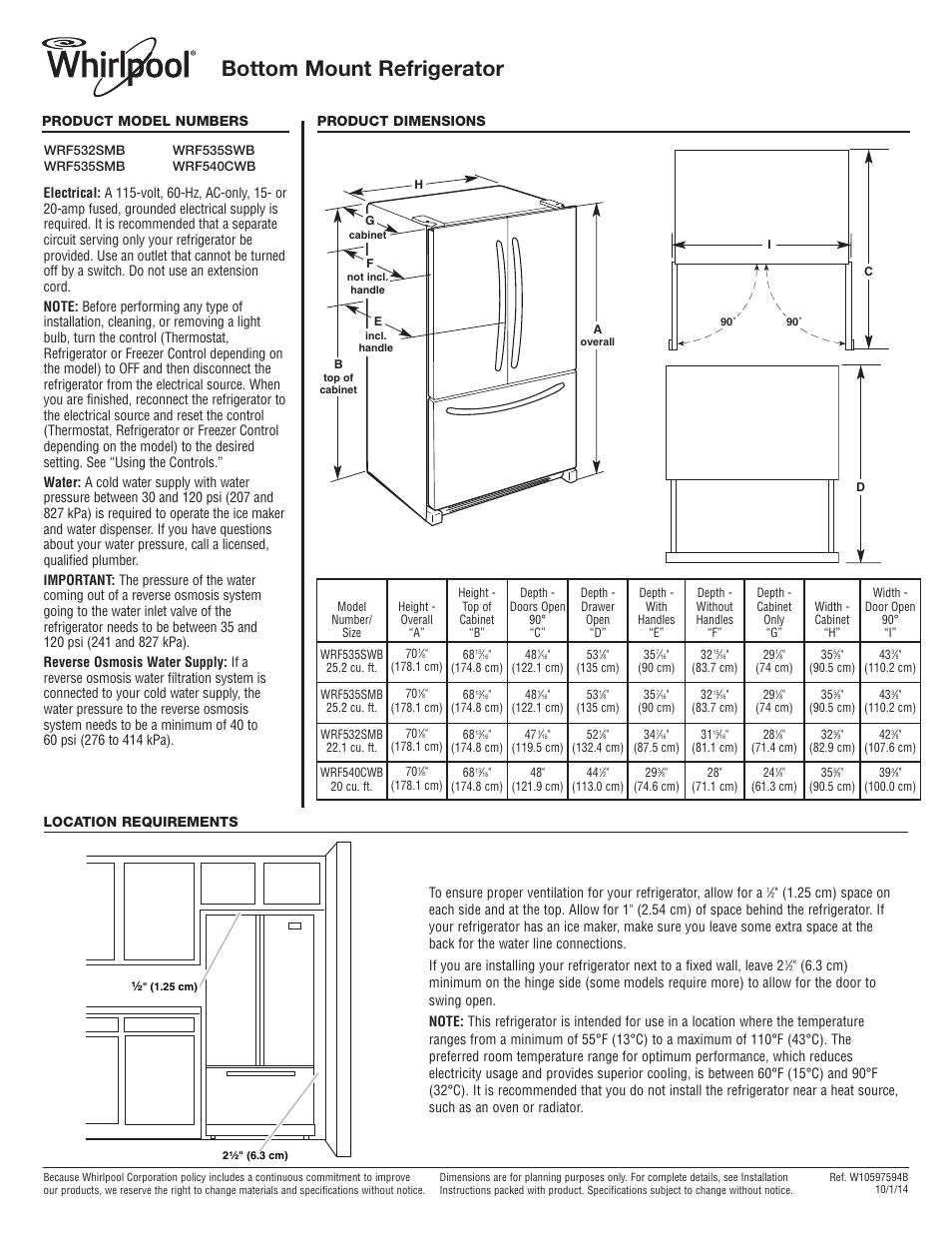 Wiring Diagram For Whirlpool Refrigerator Wrf535smbm00