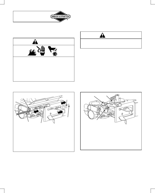 small resolution of adjustments throttle adjustment warning briggs stratton 91200 user manual page 14 20