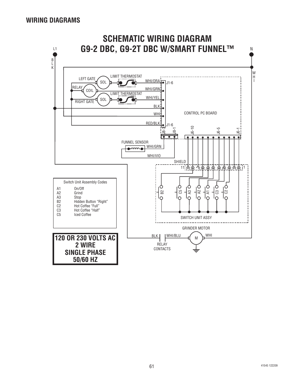 medium resolution of wiring diagrams bunn g9 2t dbc user manual page 61 79 rh manualsdir com bunn coffee
