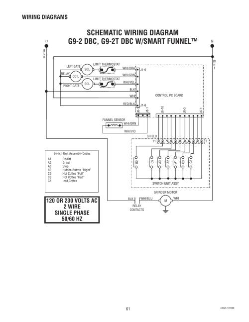 small resolution of wiring diagrams bunn g9 2t dbc user manual page 61 79 rh manualsdir com bunn coffee