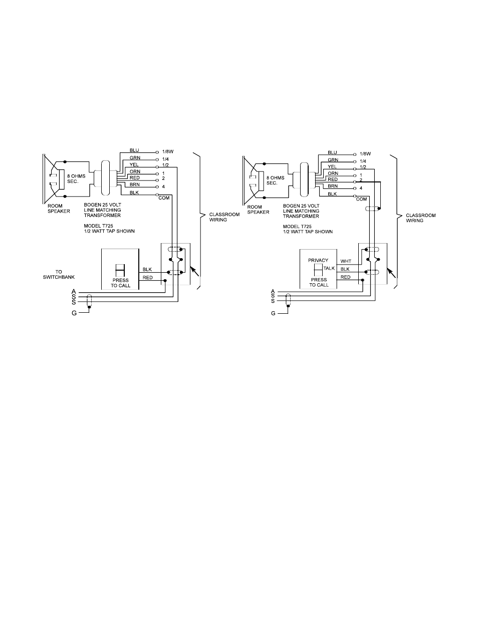 medium resolution of call in switches voice call in feature voice call in wiring bogen si35a user manual page 11 24