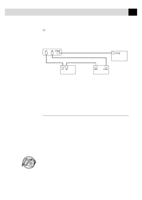 small resolution of multi line connections pbx brother fax 355mc user manual page 27 123